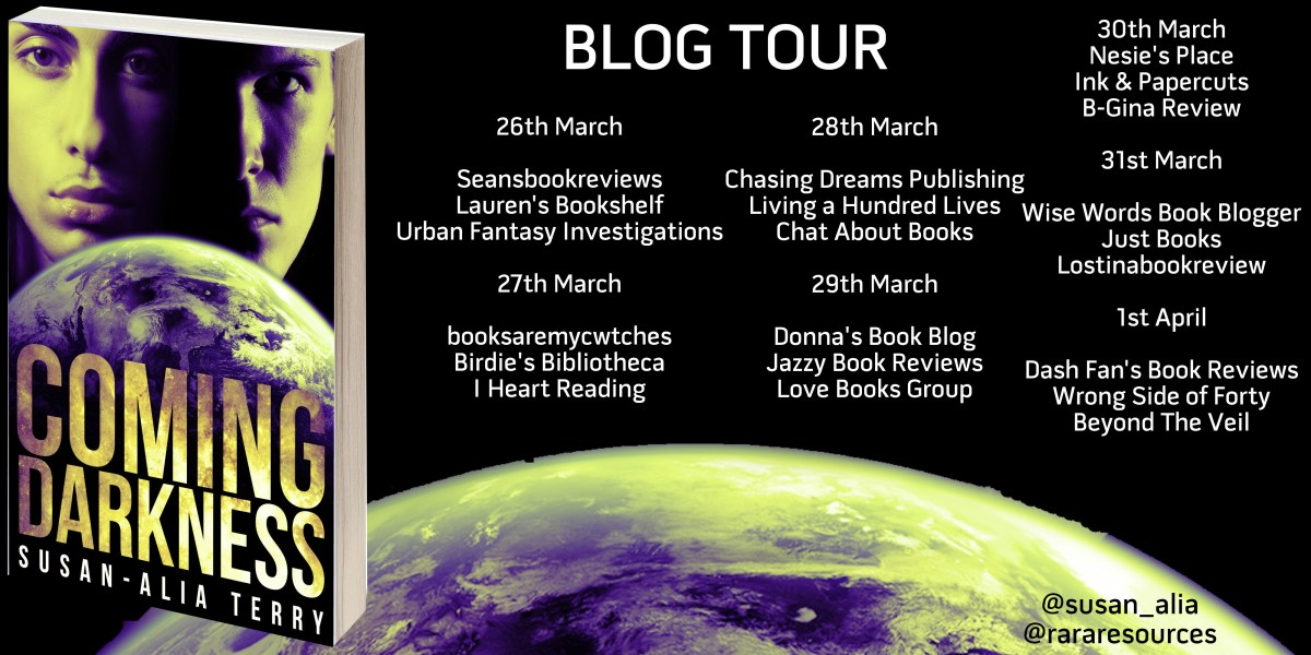 """*Blog Tour Review: """"Coming Darkness"""" by Susan-AliaTerry"""